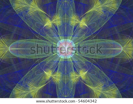 Abstract Fractal Fantasy Background Design of a Fantasy Water Plant
