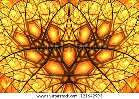 Abstract fractal illustration of a fire texture