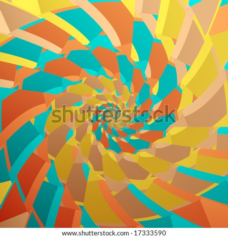 Abstract fractal image resembling an Arizona morning spiral