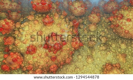 Abstract fractal image. The beautiful background created by means of the generator of fractals. #1294544878