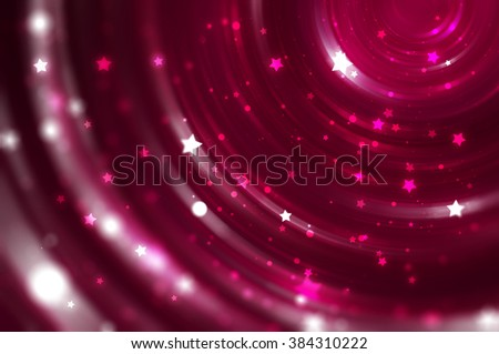 Abstract Fractal Pink Background With Crossing Circles And Ovals Disco Lights