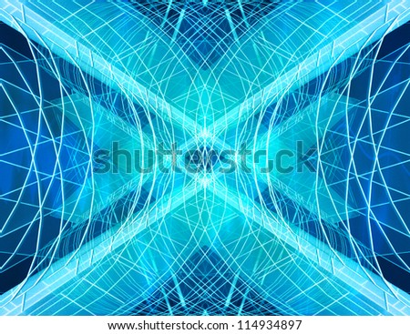 abstract fractal wallpaper;  blue shapes background