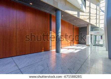 Abstract fragment of the urban architecture of modern luxury building, centre, hotel, shopping mall, business centre. Interior design.