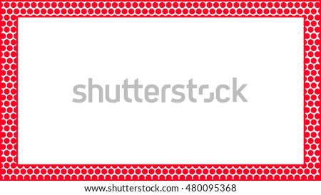 Abstract frame (frame composed of red dots) #480095368