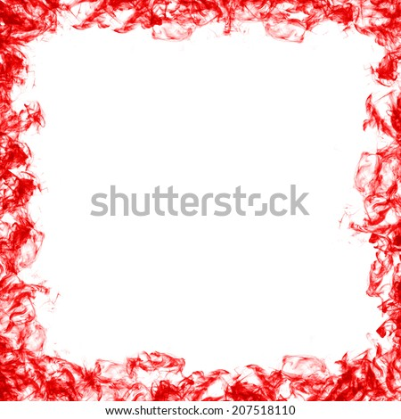Abstract frame red smoke #207518110