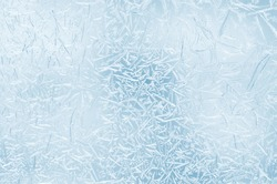 Abstract frosty pattern on glass.