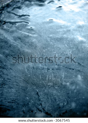abstract frozen deep blue ice background