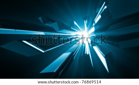 Abstract futuristic background - 3d render