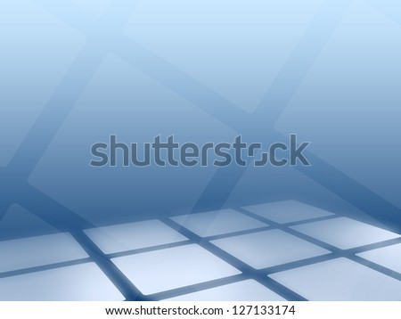 abstract futuristic background with blue square tile