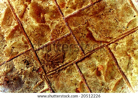 Abstract futuristic burnt stone background