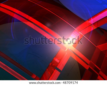 abstract futuristic colorful background - 3d illustration #48709174