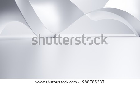 Abstract Futuristic empty floor and room Sci-Fi Corridor With light for showcase,room,interior,display products.Modern Future cement floor and wall background technology interior concept.3d render