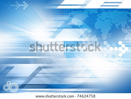 Abstract futuristic global background