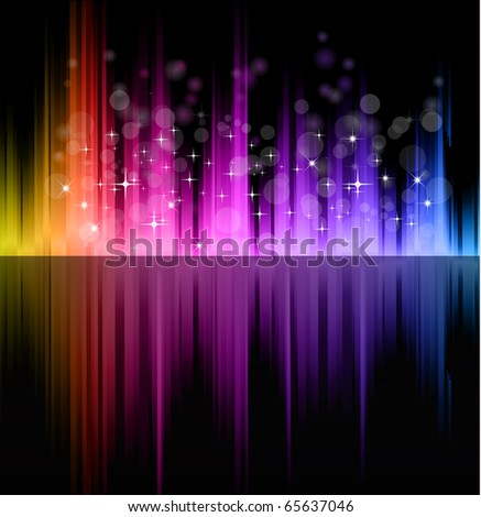 Abstract Futuristic Rainbow Lights Background for Poster of Flyers