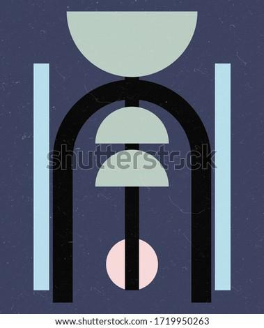 Abstract Geometric Art,Minimal Modern Art,Scandinavian Art,Geometric Artwork Background Texture,Geometric Printable, Minimal Print,Nordic Style with Geometrical Shapes