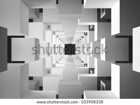 abstract geometric background - 3d illustration