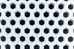 Abstract geometric background, interesting structure of a decorative wall, satin, hexagon Abstract geometric background