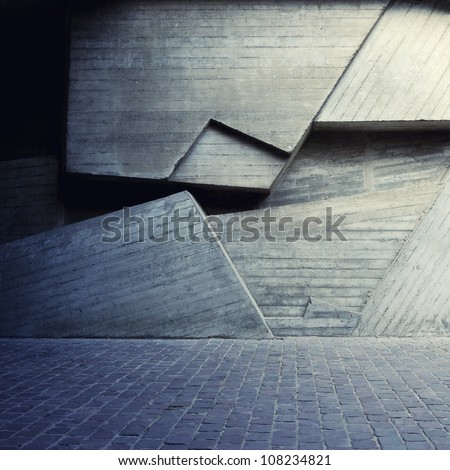 Abstract Geometric Background Of The Concrete Stock Photo ...