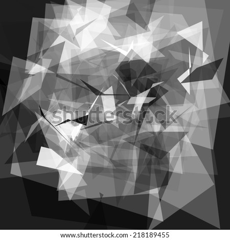 Abstract geometric background of triangular polygons #218189455