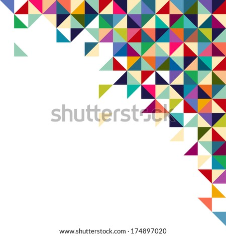 Abstract, geometric background, triangle and square, colorful