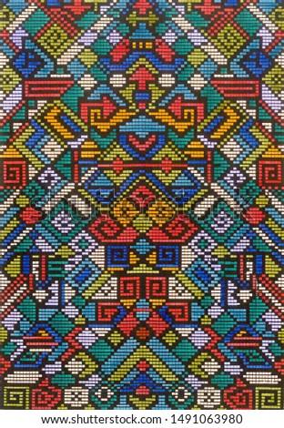Abstract geometric multicolor pattern background textile pattern textile texture design.Modern artwork1.jpg