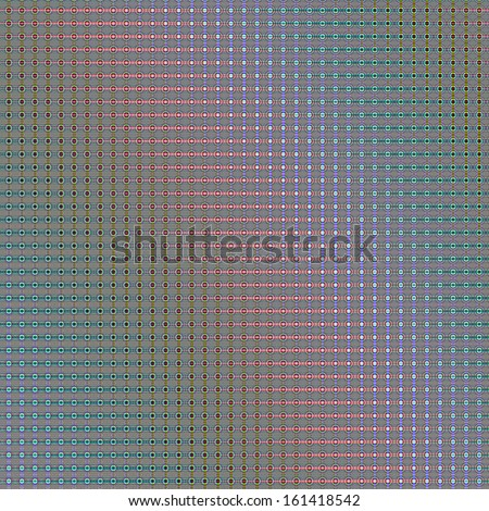Abstract Geometric Pattern of green and red circles