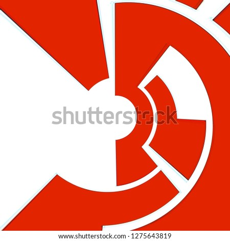 Abstract geometric round rotate background design