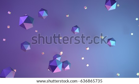 Abstract geometric shapes background. 3d render picture.