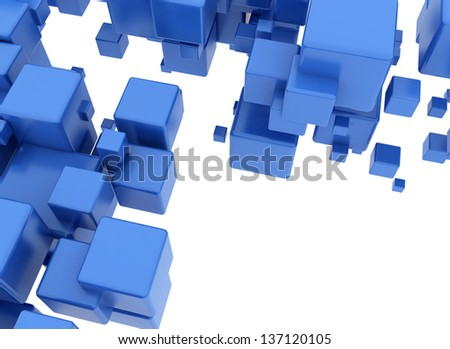 Abstract geometric shapes 3d cubes