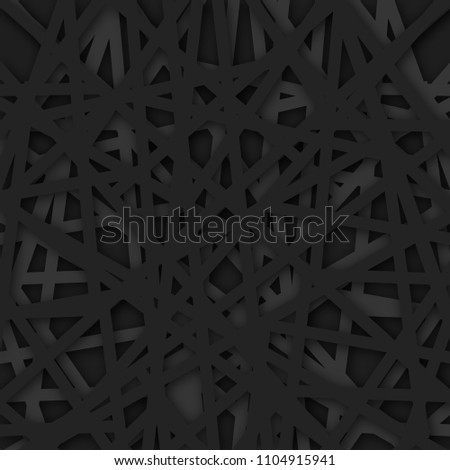 Abstract geometrical black background. Vector Illustration. textured background