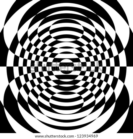 abstract geometrical image  in op art style