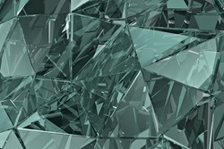 Abstract glass background. 3D render. polygonal surface