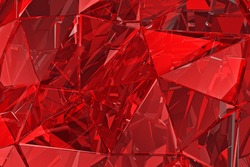 Abstract glass background. 3D render, polygonal surface