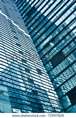 abstract glass skyscrapers at night #72907828
