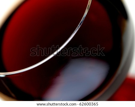 Abstract  glassware background design of close-up of a wine glass.