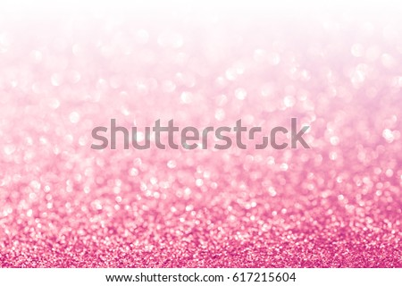 Abstract glitter pink background with white copy space