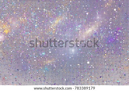 Abstract glittering geometric texture with violet, blue and golden pixels. Fantasy fractal design. Digital art. 3D rendering.