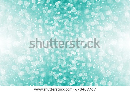 Abstract glittery teal green glitter sparkle confetti background for turquoise happy birthday party invite, aqua mint bridal backdrop, baby shower announcement, engagement, Xmas or Christmas blur