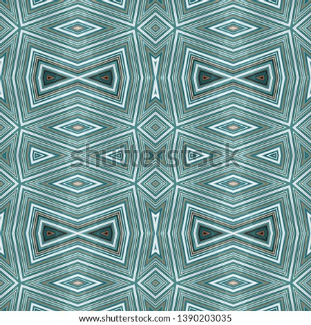 abstract glossy teal blue, light gray and gray gray seamless pattern