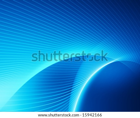 abstract glowing blue lines on gradient