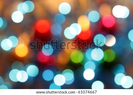 abstract glowing circles on colorful background - stock photo