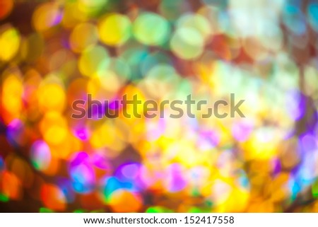 Abstract  glowing colorful bokeh for background using