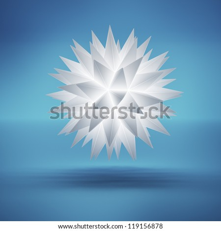 Abstract glowing snowflake