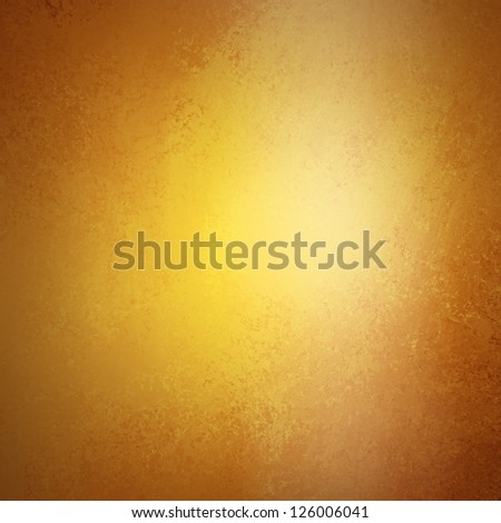 abstract gold background brown warm tone, luxury smooth background texture design with white spotlight for glossy shiny blurred light image, rich luxury yellow background, vintage grunge texture art