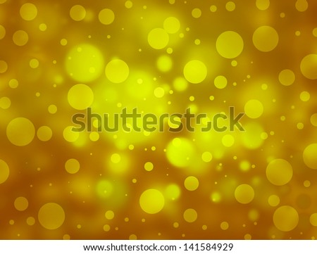 abstract gold background bubble yellow light Christmas background bokeh gold circle design background star shining glitter magic background elegant luxury backdrop for brochure web website app posters