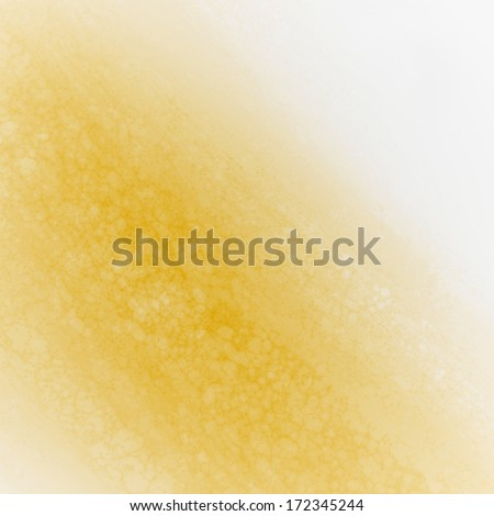 abstract gold background design, rough white border with gold streak or stream of bright light across white contrasting background, unique web design background or elegant brochure layout space