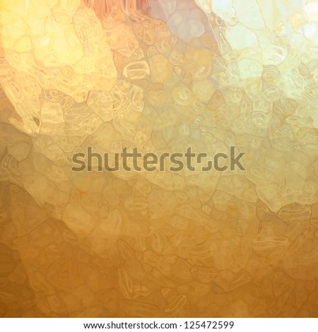 abstract gold background, glossy glass texture with corner spotlight sunshine design and blotchy mosaic style design effect with metallic shine and random shape elements, artsy luxury background