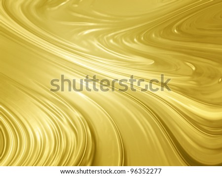 Abstract gold background - liquid golden metal texture