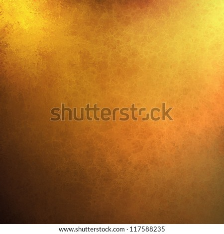 abstract gold background orange yellow paint, black border vintage grunge background texture. web design or warm bright shiny background Christmas wrapping paper, autumn Thanksgiving or fall brochure