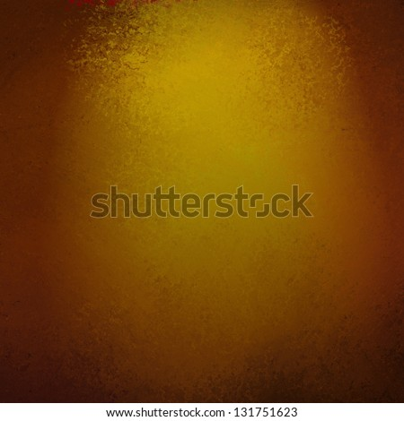 abstract gold background vignette black border, vintage grunge background texture layout design, yellow brown background color, web template background, elegant solid gold paper with muted spotlight
